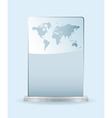 world glass award vector image vector image