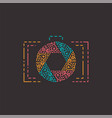 abstract photography logo in line style vector image