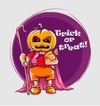 Character in halloween suit vector image