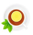 cup of tea 10 vector image