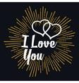 I Love you in strarburst shape vector image