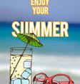 summer retro hand drawn design card vector image