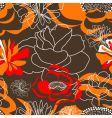 Summer seamless wallpaper vector image