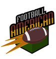 american football logos retro vector image