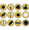 Sports buttons yellow vector