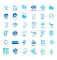 series of logos water drops vector image