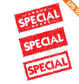 Stamp sticker special tag collection - - EP vector image