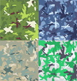 Set of camouflage military background Seamless vector image