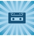 Retro poster audio cassette vector image vector image