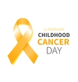 Childhood Cancer Day vector image