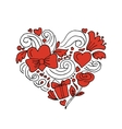 Love valentine heart sketch for your design vector image