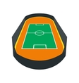 Open soccer field icon vector image
