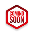 Coming Soon blue ribbon vector image