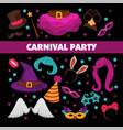 happy carnival promotional poster with bright vector image