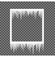 icicles on a square frame vector image