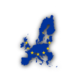 Map and flag of the EU vector image