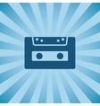 Retro poster audio cassette vector image