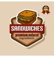 sandwiches label vector image