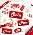 Set of sale icons labels stickers vector image