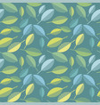 spring green leaves abstract seamless pattern vector image
