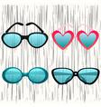 Fashion glasses set 2 vector image