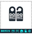 Do Not Distrub icon flat vector image