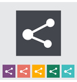 Share symbol vector image