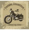 Vintage motorcycle poster vector image