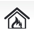 burning home icon vector image vector image