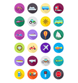 Color round transport icons set vector image vector image