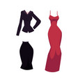 cartoon woman office suit and evening dress vector image