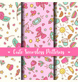 cute seamless patterns prints for kids products vector image
