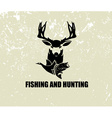 fishing and hunting vector image