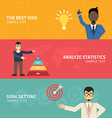 Flat Young businessman Creative idea conce vector image