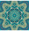 flower pattern blue background vector image
