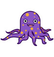funny octopus vector image