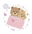 Love concept of couple teddy bear doll sleeping vector image