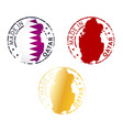 made in Qatar stamp vector image
