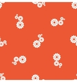 Orange settings pattern vector image