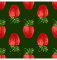 Seamless pattern with fresh strawberries vector image