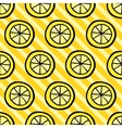 Seamless pattern with lemon on stripped background vector image