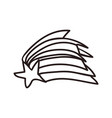 Shooting star doodle vector image