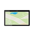 Tablet gps device vector image