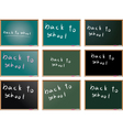 school blackboards vector image vector image