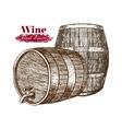 Wine Barrels Hand Draw Sketch vector image