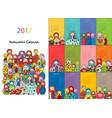 matryoshka calendar 2017 design vector image vector image
