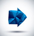 Blue arrow geometric icon made in 3d modern style vector image vector image