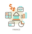 concepts of bank vector image vector image