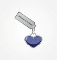 heart with tag vector image vector image