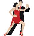 ballroom dancing vector image vector image